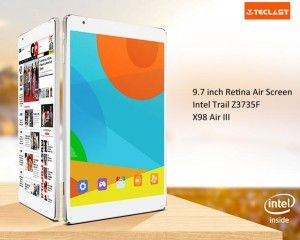 TECLAST X98 Air III 9.7 Zoll Tablet PC mit Android 5.0, Z3735F Quad-core 1.83GHz, 2GB RAM, 32GB Speicher, 5MP+2MP Kameras, 8.000mAh Akku, QXGA Retina Display, Bluetooth 4.0, HDMI