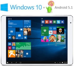 Teclast X98 Plus 9.7 Zoll QXGA Dual Boot Tablet PC mit Windows 10 & Android 5.1, Intel Cherry Trail Z8300 64bit Quad Core 1.84GHz, 4GB RAM, 64GB Speicher, 5MP+2MP Kameras, 8.000mAh Akku