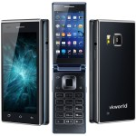 VKWORLD T2 4.02 Zoll 3G FWVGA Flip Smartphone mit Android 5.1, MTK6580 Quad Core 1.3GHz, 1GB RAM, 8GB Speicher, 13MP+5MP Kameras, 2.050mAh Akku