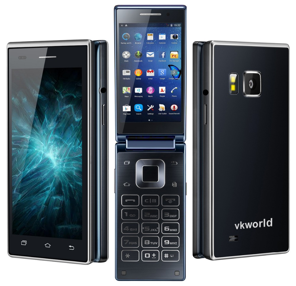 vkworld t2 zoll 3g flip smartphone g nstig kaufen. Black Bedroom Furniture Sets. Home Design Ideas