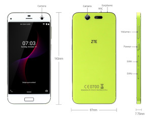 ZTE Blade S7 5.0 Zoll LTE FullHD Smartphone mit Android 5.1.1, Qualcomm Snapdragon MSM8939 Octa Core 1.5GHz, 3GB RAM, 32GB Speicher, 13MP+13MP Kameras, 2.500mAh Akku