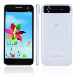 ZTE Grand S Lite S118 5.0 Zoll FullHD 3G Smartphone mit Android 4.2, MTK6589T Quad Core 1.5GHz, 2GB RAM, 16GB Speicher, 13MP+2MP Kameras, 1.820mAh Akku